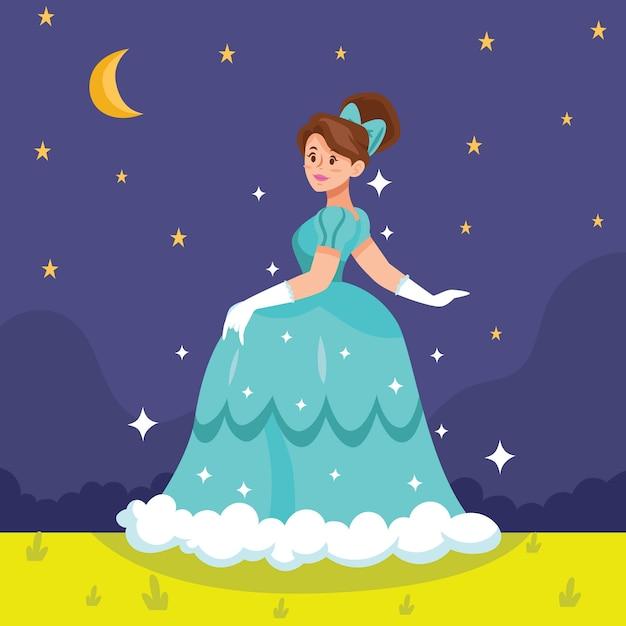 Concept De Princesse Cendrillon Vecteur gratuit