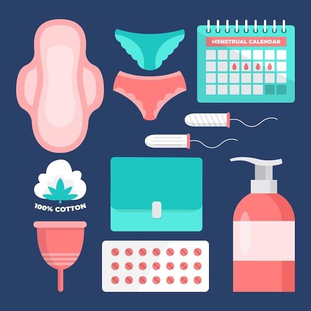 Concept De Produits D'hygiène Féminine Vecteur Premium