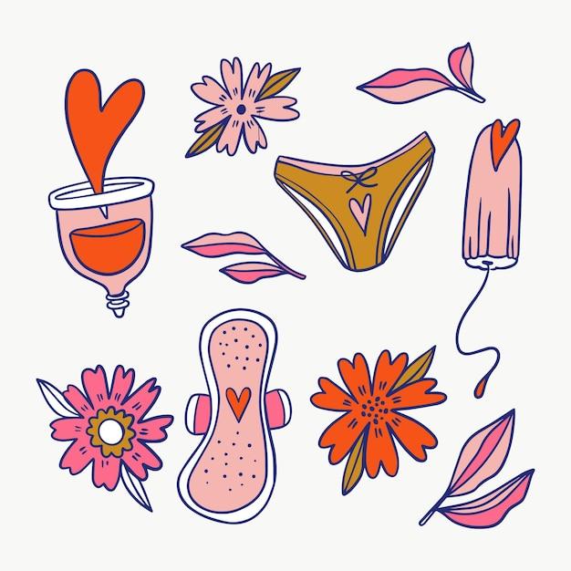 Concept De Produits D'hygiène Féminine Vecteur gratuit