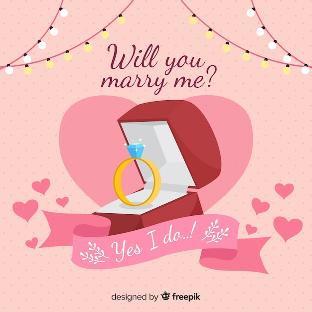 Concept de proposition de mariage Vecteur gratuit