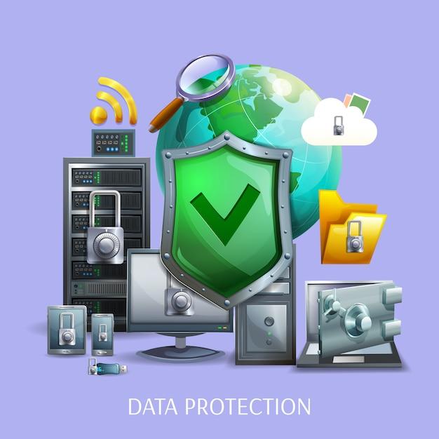 Concept De Protection Des Données Vecteur gratuit