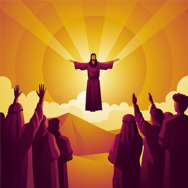 Concept De Rachat De L'humanité Le Jour De L'ascension Vecteur gratuit