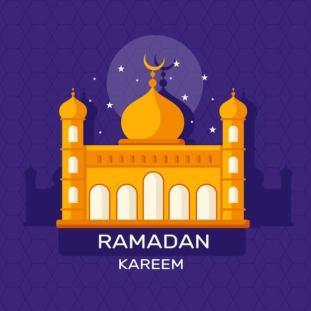 Concept De Ramadan Au Design Plat Vecteur Premium
