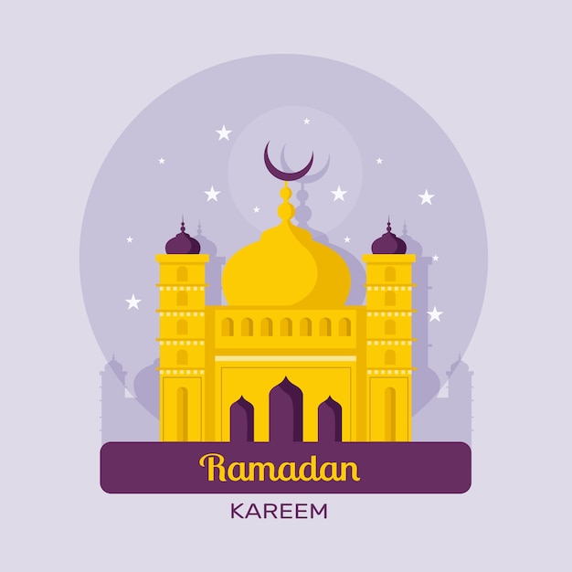 Concept De Ramadan Au Design Plat Vecteur gratuit