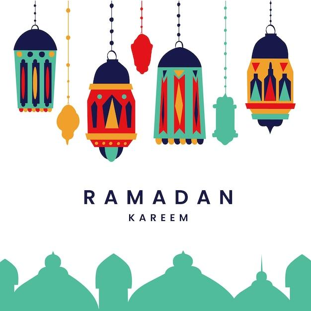 Concept De Ramadan Dessiné à La Main Vecteur gratuit