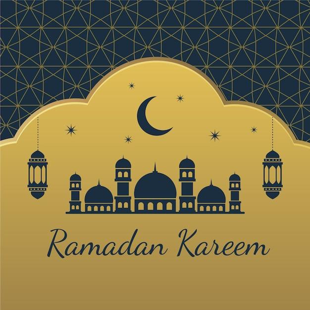 Concept De Ramadan Plat Vecteur gratuit