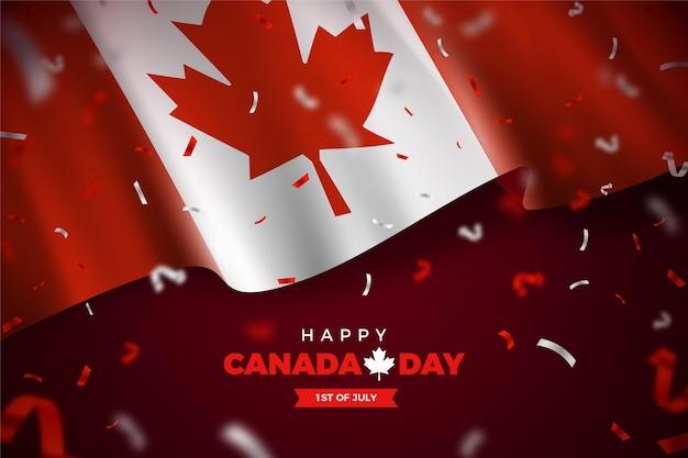 Concept Réaliste De La Fête Du Canada Vecteur gratuit