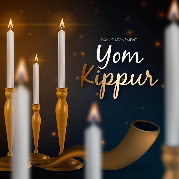 Concept Réaliste De Yom Kippour Vecteur gratuit