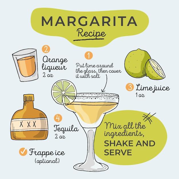 Concept De Recette De Cocktail Vecteur gratuit