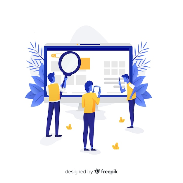 Concept de recherche pour la page de destination Vecteur gratuit