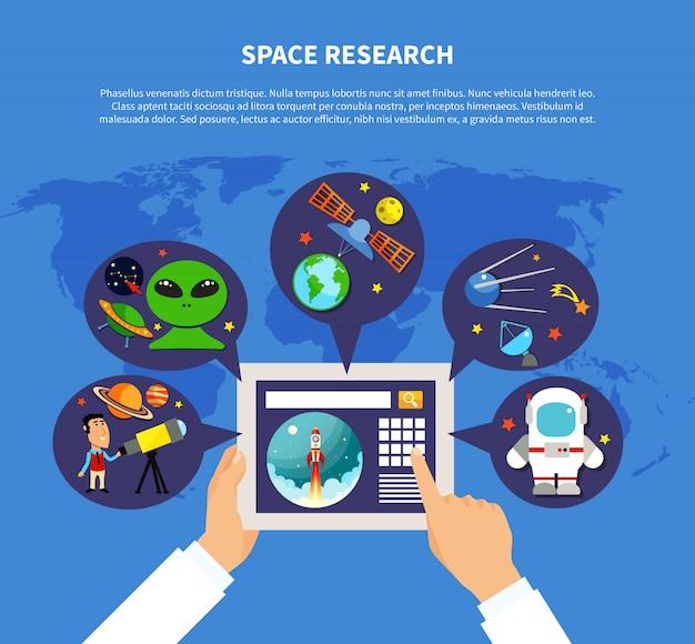 Concept de recherche spatiale Vecteur gratuit