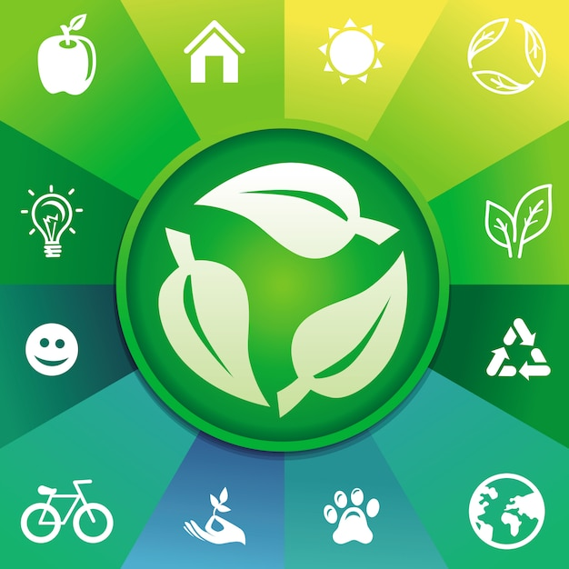 Concept de recyclage de vecteur - écologie Vecteur Premium