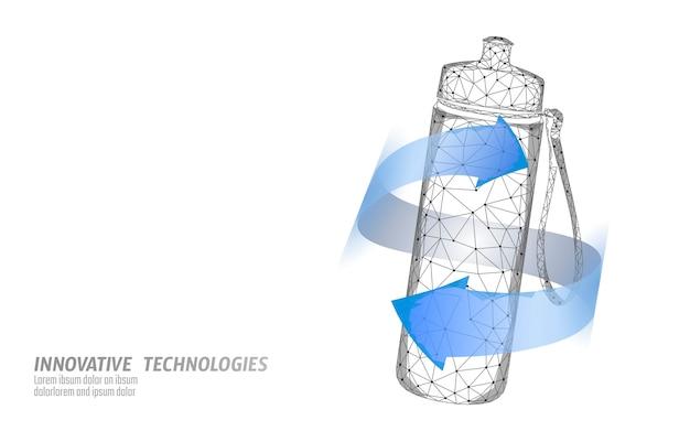 Concept De Réhydratation De L'eau Bouteille Aqua Sport. Soins De Santé Contre La Déshydratation Boisson électrolytes Isotoniques. Illustration De Sportif De Remise En Forme. Vecteur Premium
