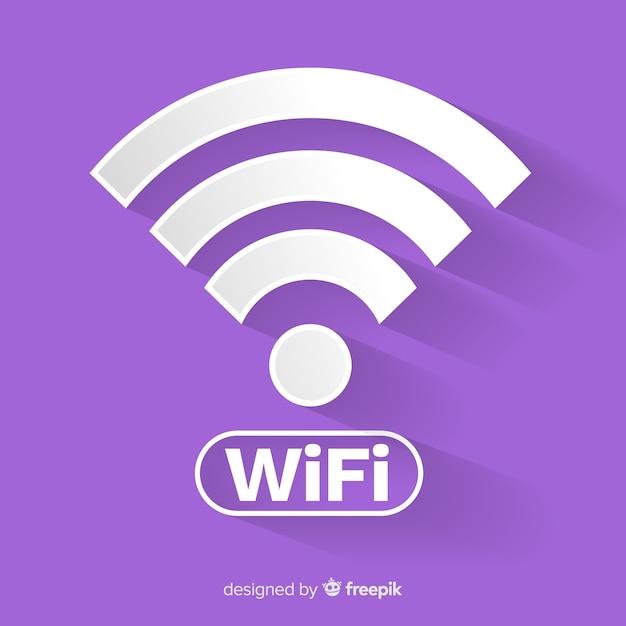 Concept De Réseau Wifi Design Plat Vecteur gratuit