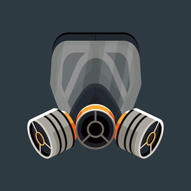 Concept De Respirateur De Masque à Gaz Vecteur Premium