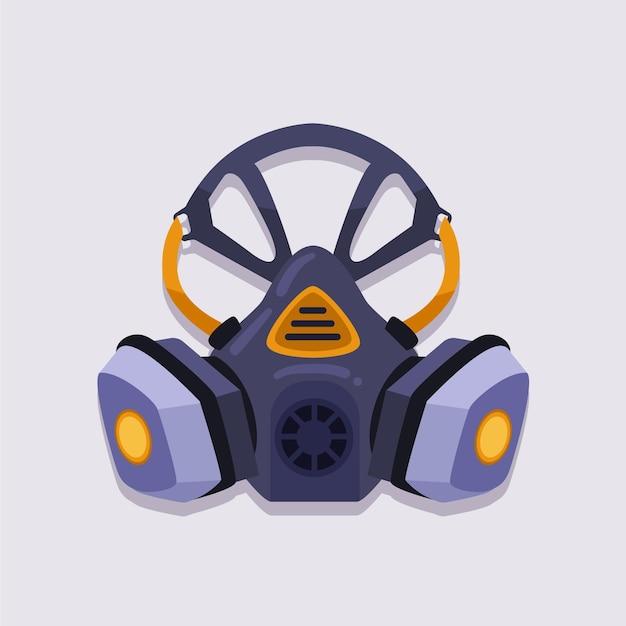 Concept De Respirateur De Masque à Gaz Vecteur gratuit