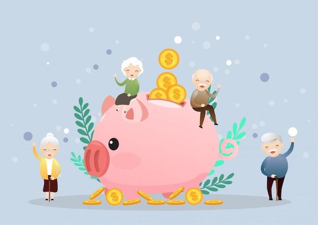 Concept de retraite. Vecteur Premium