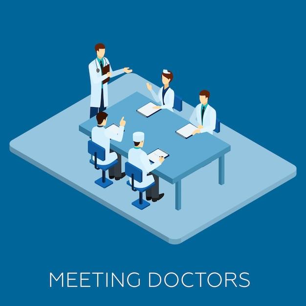 Concept de réunion de médecin Vecteur gratuit