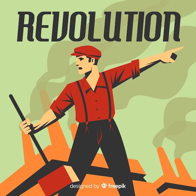 Concept de révolution classique avec style vintage Vecteur gratuit