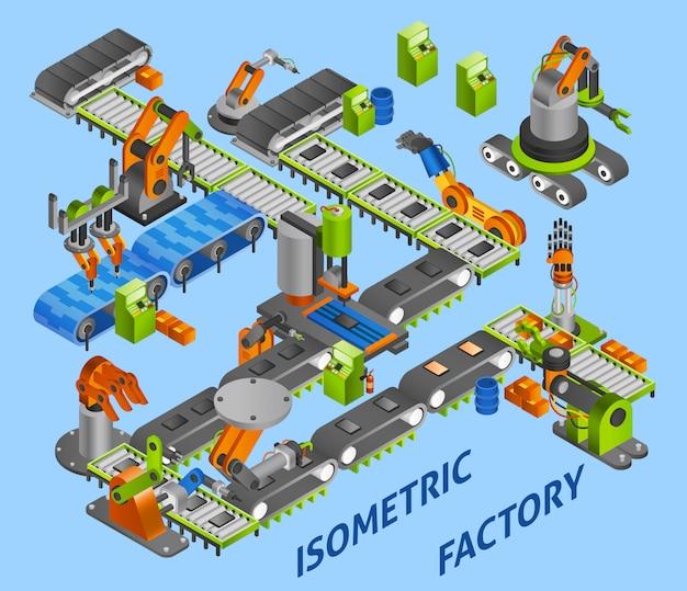Concept de robot industriel Vecteur gratuit
