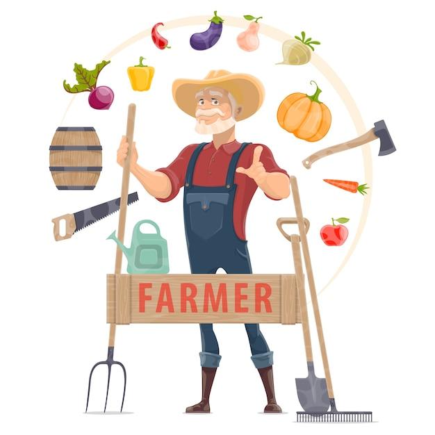 Concept Rond D'éléments D'agronome Vecteur gratuit