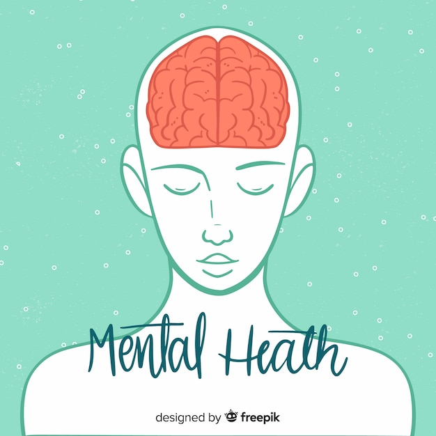 Concept De Santé Mentale Moderne Au Design Plat Vecteur gratuit