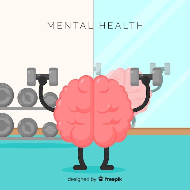 Concept de santé mentale Vecteur gratuit