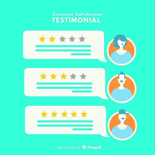 Concept de satisfaction client moderne Vecteur gratuit