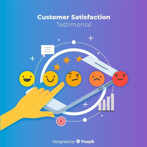 Concept de satisfaction client plat Vecteur gratuit