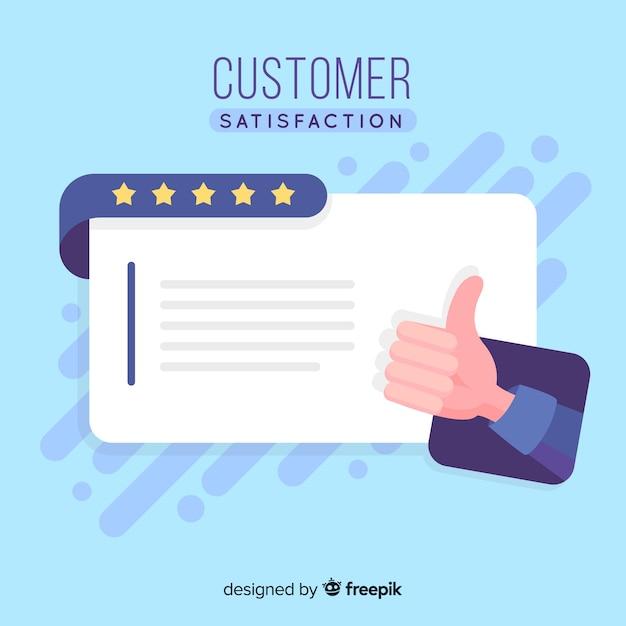 Concept De Satisfaction Client En Style Plat Vecteur gratuit