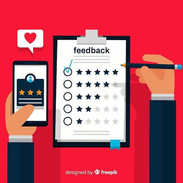 Concept de satisfaction client Vecteur gratuit