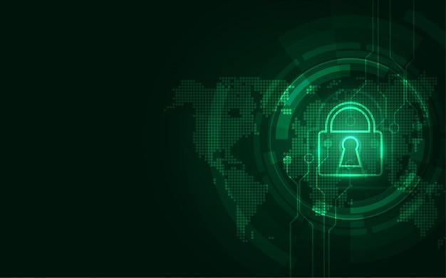 Concept de sécurité numérique cybernétique abstrait technologique protégeant l'innovation du système Vecteur Premium