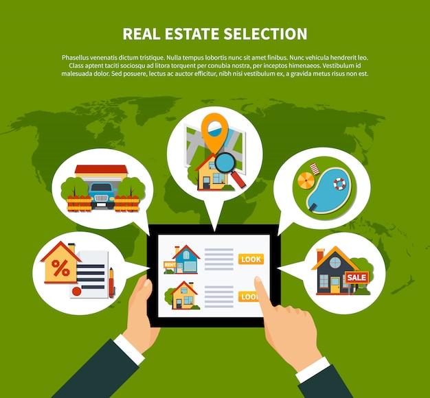 Concept de sélection immobilière Vecteur gratuit