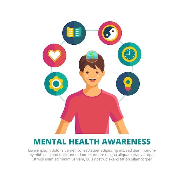 Concept De Sensibilisation à La Santé Mentale Vecteur gratuit