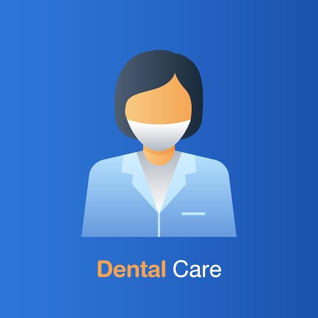 Concept de soins dentaires Vecteur Premium
