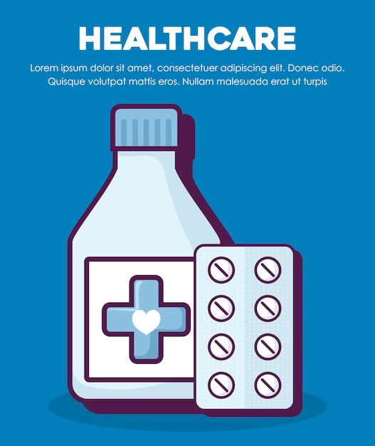Concept de soins de santé Vecteur gratuit