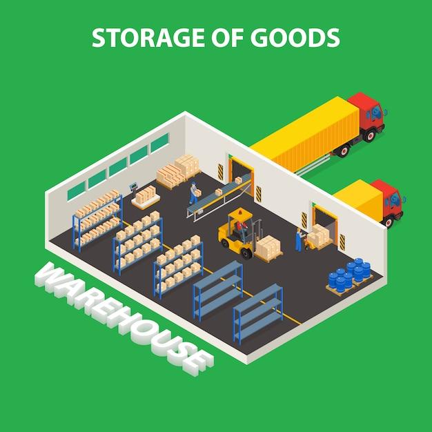 Concept de stockage de marchandises Vecteur gratuit