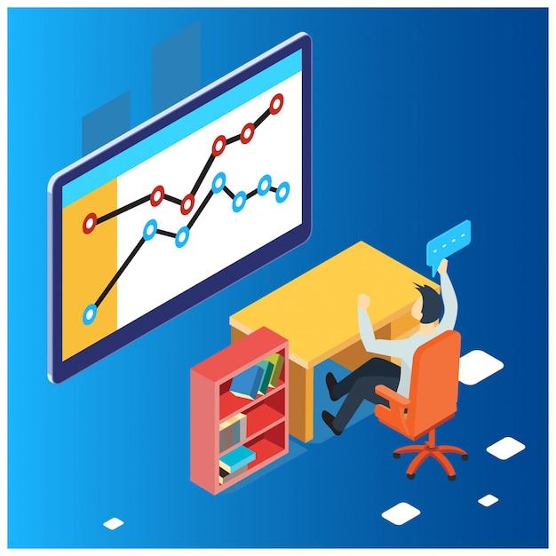 Le concept de stratégie d'entreprise Vecteur Premium