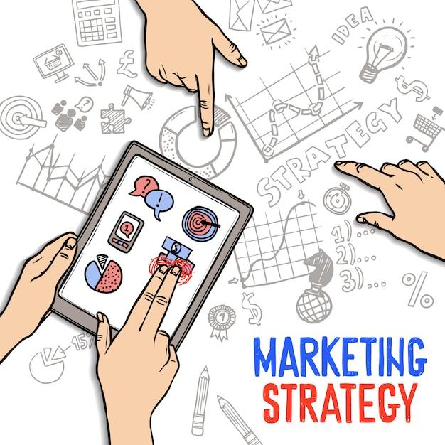 Concept de stratégie marketing Vecteur gratuit