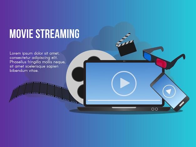 Concept de streaming vidéo Vecteur Premium