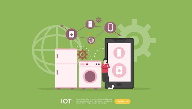 Concept de surveillance iot smart house Vecteur Premium