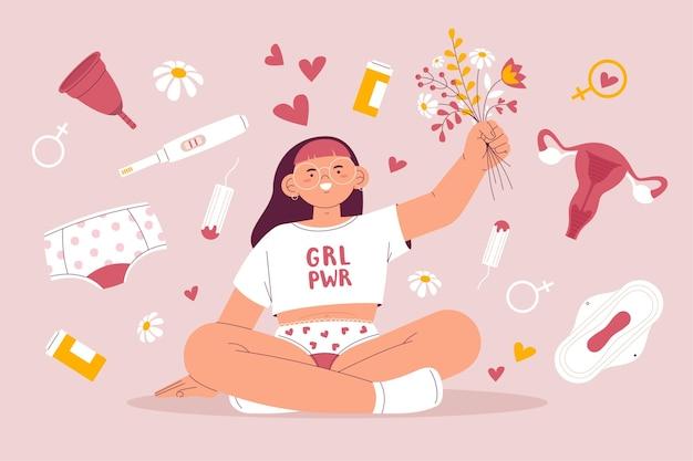 Concept De Système Reproducteur Girl Power Vecteur gratuit