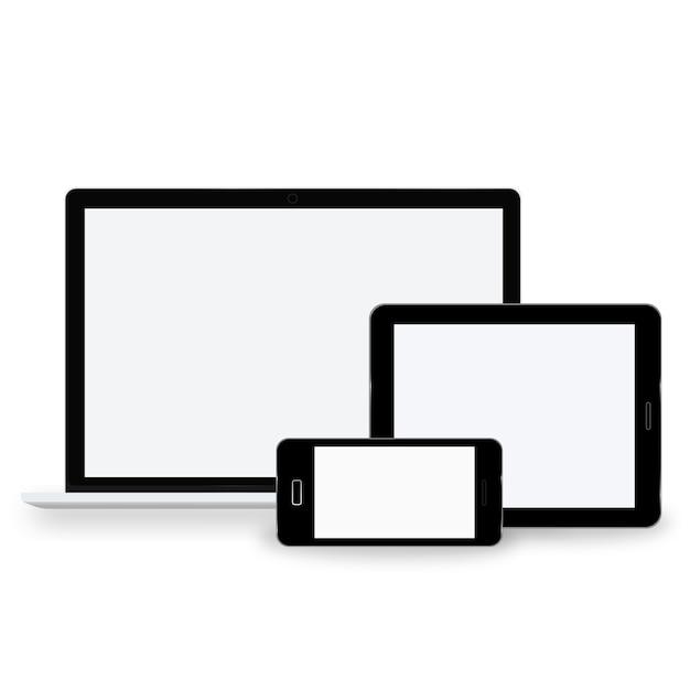 Concept de technologie icône appareil numérique Vecteur gratuit