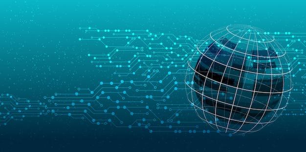 Concept technologique abstrait Vecteur Premium