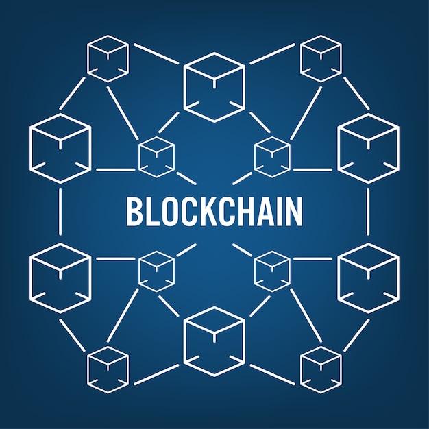 Concept technologique de la blockchain Vecteur Premium
