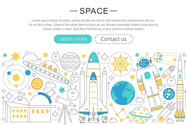 Concept technologique explorant l'espace Vecteur Premium