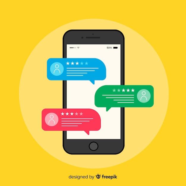 Concept de témoignage de bulle de dialogue Vecteur gratuit