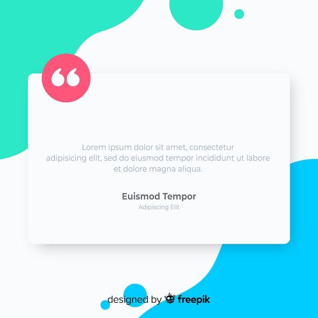 Concept de témoignage web créatif Vecteur gratuit