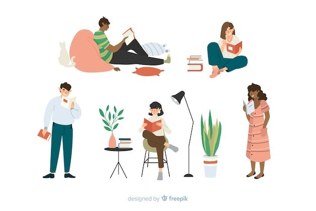 Concept De Temps De Lecture Pour Illustration Vecteur gratuit