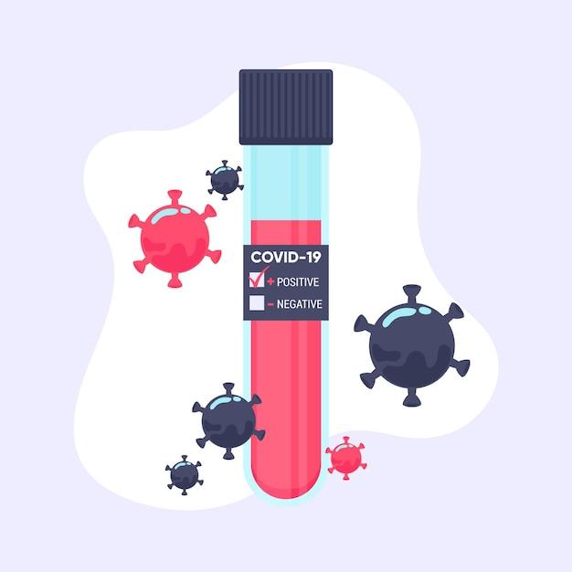 Concept De Test Sanguin De Coronavirus Vecteur gratuit